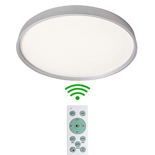 MRCOOL LED Plafoniera, Plafoniere Rotonde 24W 3000K-6500K per Soggiorno, Camera da Letto, Cucina, Balcone Della Sala da Pranzo, Bagno (Argento, 24W)