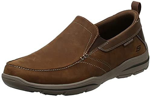 Skechers mens Relaxed Fit Harper - Forde Driving Style Loafer, Desert Leather, 12 US