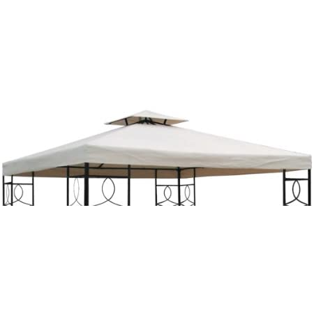 Spetebo 3 X 3 Meter Gazebo Replacement Roof With Water Repellent Polyester Cover And Double Roof Amazon Co Uk Garden Outdoors