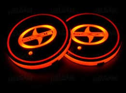 Tonet Newest 7 Colors Changing USB Mat Luminescent Cup Bottle Drinks Coaster Pad LED Interior Atmosphere Decal Lamp for Scion (Scion)