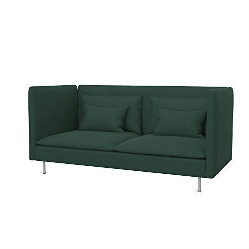 Soferia Funda de Repuesto para IKEA SÖDERHAMN sofá de 3 plazas, Espalda Alta, Tela Elegance Mineral, Gris