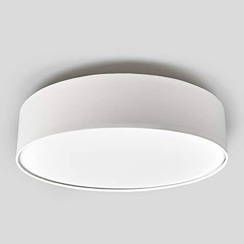 Lampenwelt Deckenlampe 'Sebatin' (Modern) in Creme aus Textil u.a. für Schlafzimmer (3 flammig, E27, A+, inkl. Leuchtmittel) - Deckenleuchte, Lampe, Schlafzimmerleuchte