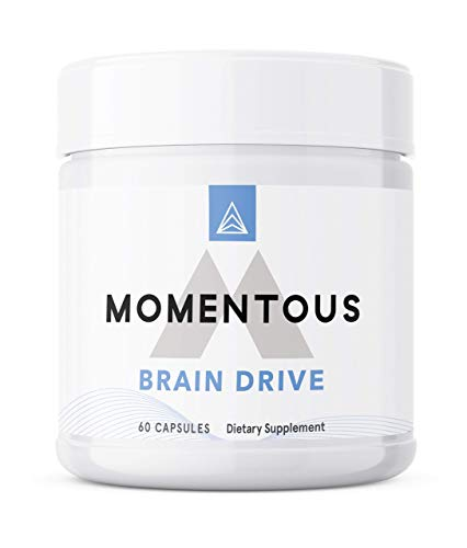 Momentous Brain Drive Nootropic Supplement, Non-GMO and Gluten Free, Memory and Focus (30 Servings/60 Capsules)