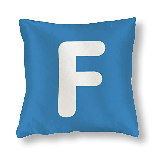 perfecone Home Improvement Funda de almohada de algodón con doble letra F - Emoji Twitter Design Funda de almohada para sofá y coche 1 paquete de 45 x 45 cm