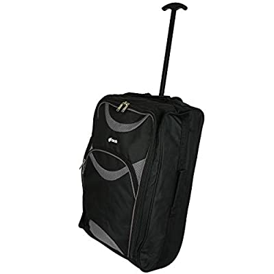 Ryanair Approved Wheeled Cabin Bag Hand Luggage Trolley - Lightweight Flight Suitcase - Many Different Styles - 54x35x20cm