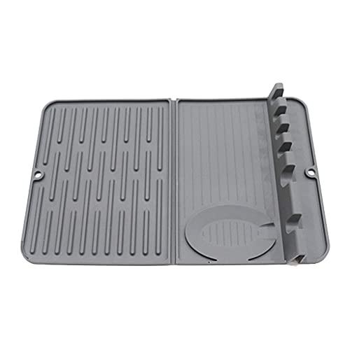 VEILTRON Poggia Cucchiaio in Materiale siliconico per bancone della Cucina 6 Slot con gocciolatoio Porta cucchiai Antiscivolo Resistente al Calore Senza BPA