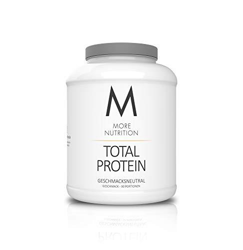 MORE NUTRITION Total Protein (1 x 1500 g) - Whey Eiweißpulver mit Casein, Aminosäuren und Laktase für Muskelaufbau (Geschmacksneutral)