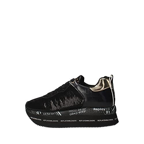 Replay RAFFY-Wealdstone, Zapatillas Mujer, 003 Black, 35 EU