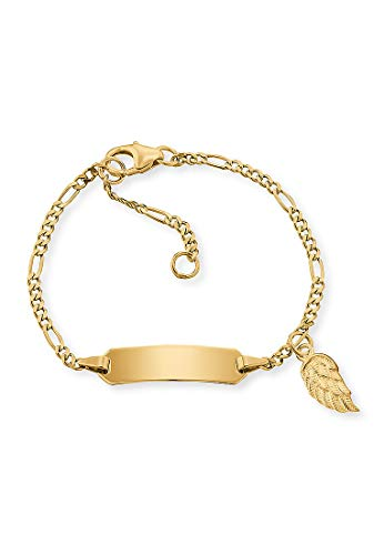 Engelsrufer Mädchen-Kinderarmband Armband ID Flügel 375er Gelbgold One Size 87847683