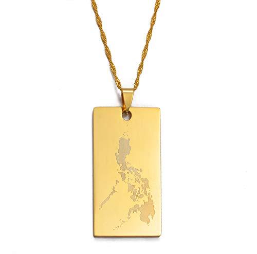 Anhänger Größe 4,5 Cm X 2,5 Cm, Republik Der Philippinen Karte Anhänger \U0026 Halsketten, Landkarten Schmuck