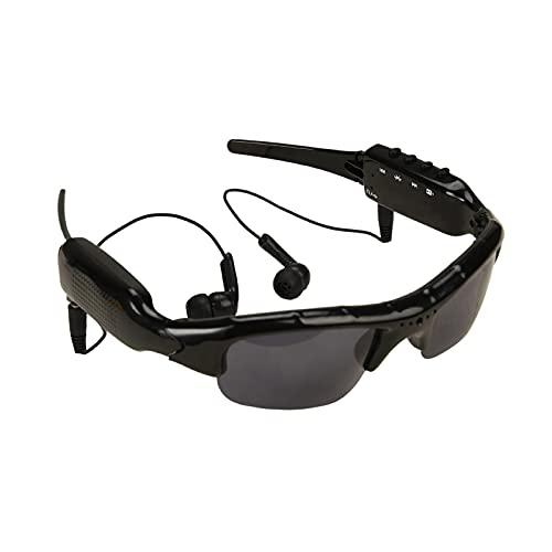 Occhiali da Sole da Ciclismo Smart Glasses Videocamera Sport All'aperto Musica Bluetooth Occhiali da Sole MP3 Occhiali da Sole Adatto per Guidare E Correre (Colore : Black, Size : 32G)
