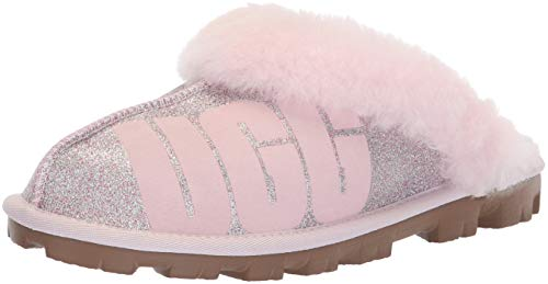 UGG Women's W Coquette Sparkle Slipper, seashell pink, 7 M US