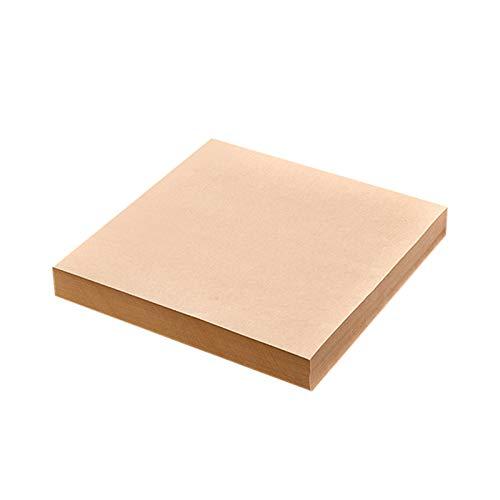 500pcs papel de hornear, papel Kraft que hornea las hojas de papel engrasado envoltura de alimentos para la absorción del aceite de la cocina