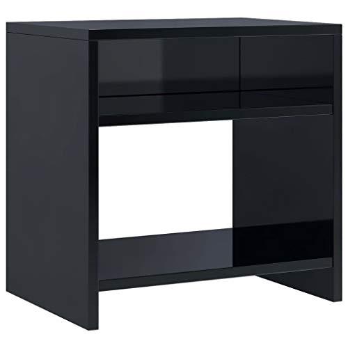 vidaXL Sängbord svart högglans 40x30x40 cm spånskiva