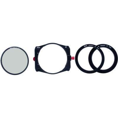 Kase K100 K9 Slim 100mm Filter Holder Kit with Holder + 90 mm Magnetic CPL Filter + 67mm 72mm 77mm 82mm Adapters
