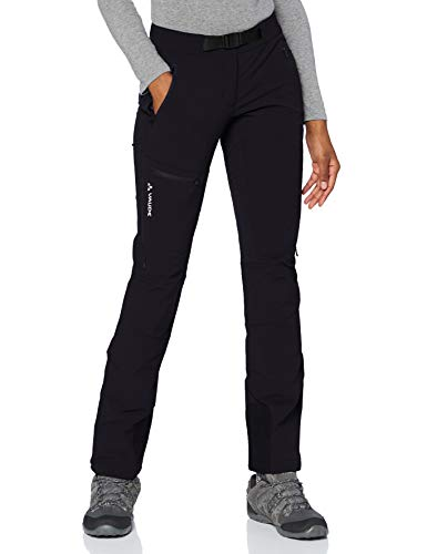 VAUDE Women's Badile Pants II Pantalon Femme, Noir uni, 46-Short