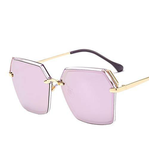 MXH The New Polarized Light Sunglasses Square Wild zonnebril, kleurrijk, UV-bescherming, mannen en vrouwen met hak 8039