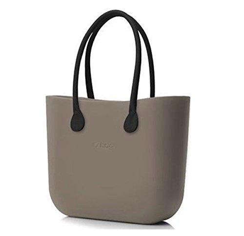 O Bag Tasche+braune lange Griffe+Beutel