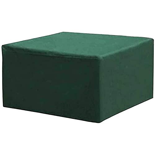 TCWDX Cubierta para Muebles de Patio, Cubiertas para Muebles de jardín, Cubiertas para mesas de Patio Tela Oxford 210D Resistente al Viento y Anti-UV para terraza al Aire Libre, Verde, Verde, 105x