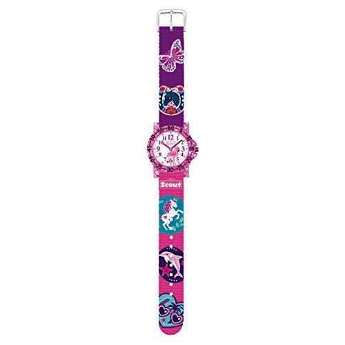 Scout Kinder Uhr Lernuhr IT-Collection - Glitter Mädchen 280375017