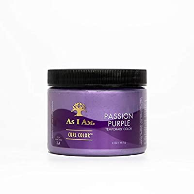 As I Am Curl Color - Passion Purple - 6 ounce - Color and Curling Gel - Temporary Color