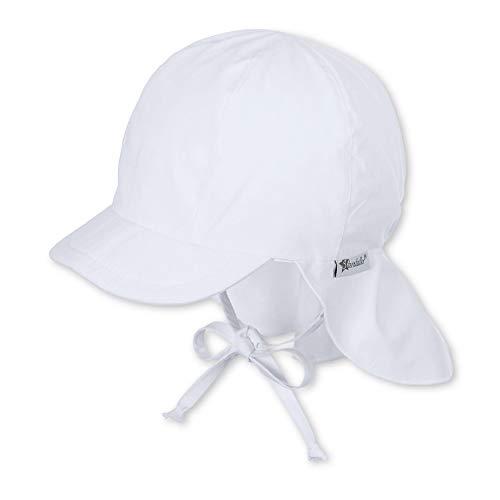 Sterntaler Unisex Jungen Mütze Schirmmütze m. Nackenschutz 1511410, Weiß (Weiss 500), 45