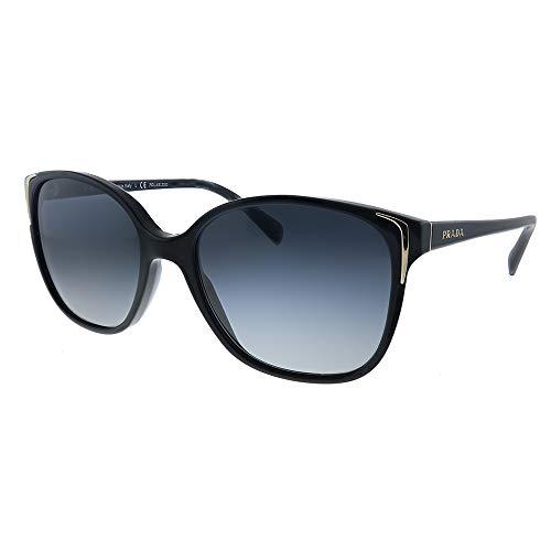 Prada PR01OS 1AB5W1 Black PR01OS Butterfly Sunglasses Polarised Lens Category 3 Size 55mm