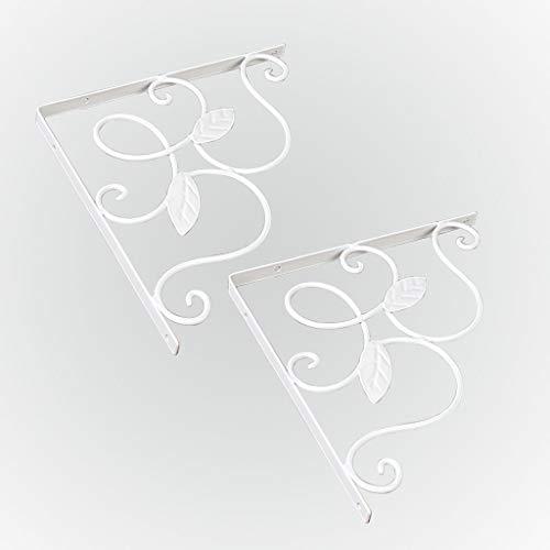 KKYY Decoratieve Wandplank beugels, plank beugel muur gemonteerd Scroll plank beugels, klassieke krullend plank beugels 2 stuk, (meerdere maten)