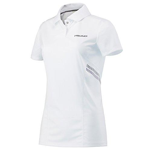 HEAD Mädchen Club Technische Polo Shirt M Weiß/Navy