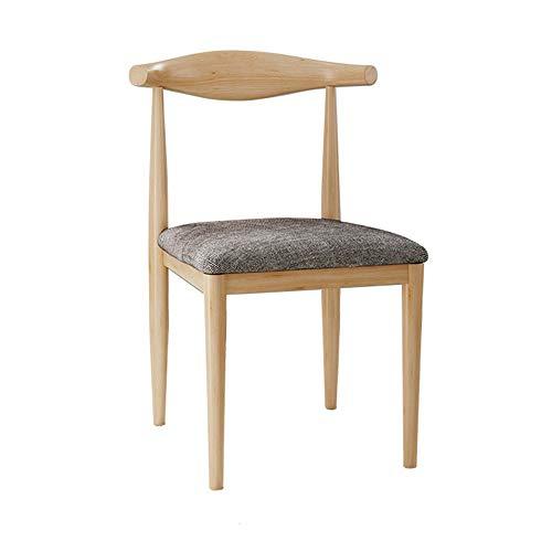 NAN liang Chaises latérales de cuisine à manger chaud siège rembourré en bois massif, chaise pour cuisines Set avec dossier en bois massif siège, 6 couleurs (Couleur : Gray)