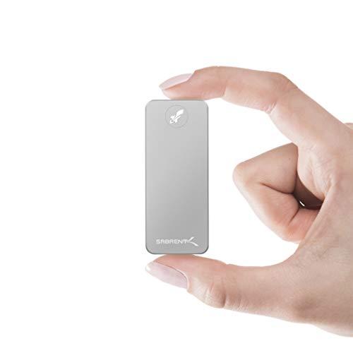 Sabrent SSD Esterno 1TB Rocket Nano in Alluminio (Color Argento) (SB-1TB-NANO)