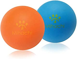 Mihachi 2 Pack Dog Balls Indestructible - 100% Natural Rubber Bouncy Dog Ball Non-Toxic Chew Toy for Small to Medium Dog T...