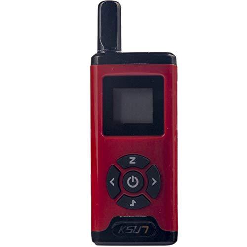 QZQIMIN Mini Miniature Walkie-Talkie Civil Hair Salon 4S Shop Beauty Salon Hotel Small PTT Launch Button Diversified Wireless Intercom LED Display Two Way Radio QMV66-V1-R