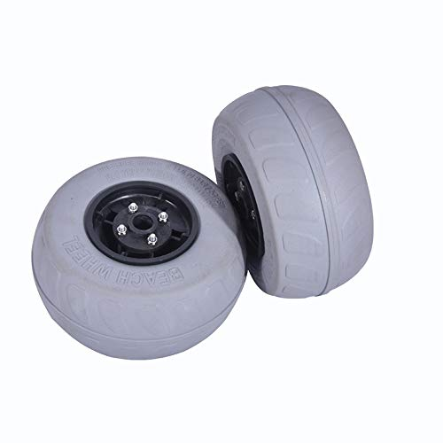 YQC Beach Wheels Replacement Kayak Cart Wheels with 9' Replacement Balloon Sand Tires for Kayak Dolly Canoe Beach Cart Wagon Buggy
