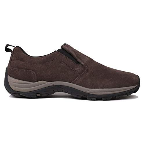 Karrimor Mens Moc Walking Shoe Slip On Elasticated Dyna Sole Outdoor Hiking Brown UK 7 (41)