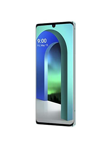LG Velvet 5G Smartphone 128 GB (17,27 cm (6,8 Zoll) POLED-Display mit Notch, Triple-Hauptkamera,3D-Sound, IP68 und MIL-STD-810G, Android 10), Aurora Grün