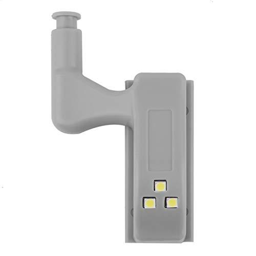 fengzong Universal Mini Size Küche Schlafzimmer Schrank Schrank Schrank Kleiderschrank Innenscharnier LED-Sensor Licht Lampensystem (weiß)