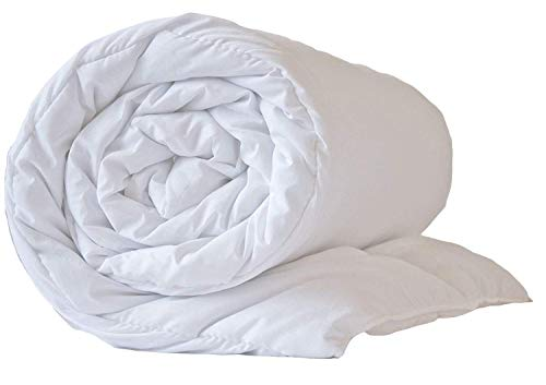 Hotel Quality Pure White Microfibre Peached Duvet King 13.5TOG Feels Like Down by The Sleep Easy