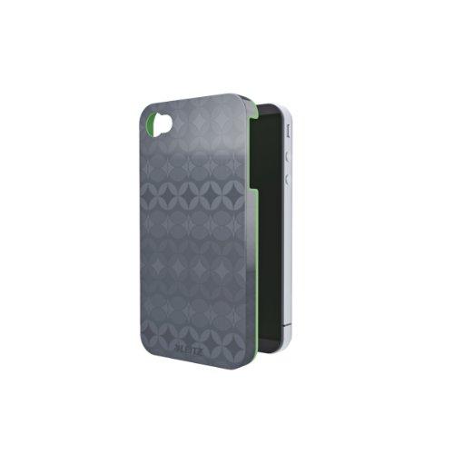 Leitz 62610089 Hartschale Retro Chic für iPhone, 4/4S, grau