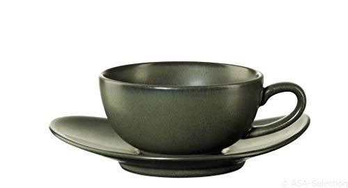 ASA - Teetasse mit Untertasse - Cuba Verde - grün - Feinsteinzeug - 0,15 l