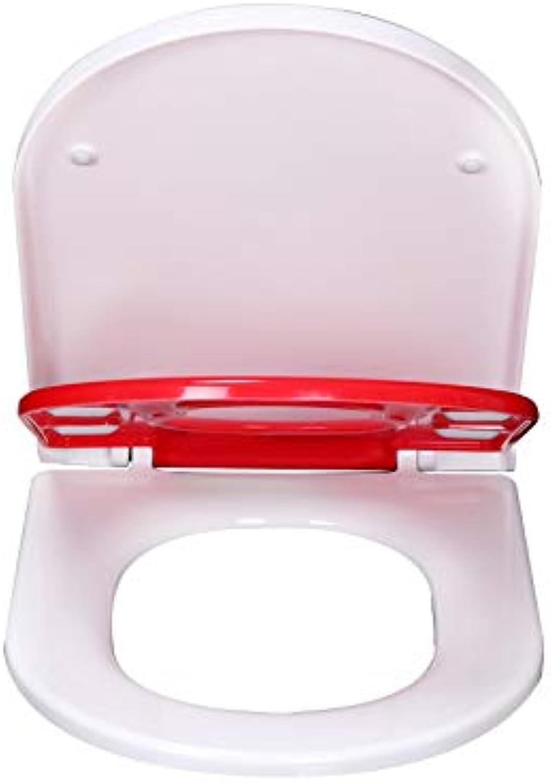 ME Toilettensitze, Familien-Kinderabsenkungs-Toiletten-Sitze Tpfchensitz mit Einer Taste loslassen,rot