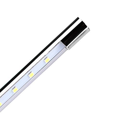 Lámpara con Clip, 10 LED Lámpara con Clip Flexible USB de 360 Grados para luz Nocturna para cabecera de Cama para Escritorio para computadoras(White)