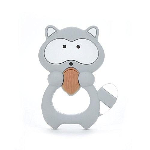 lofca Silicone Raccoon Teether Pendant BPA Free Teething Toys Baby Teether Teething Accessory …