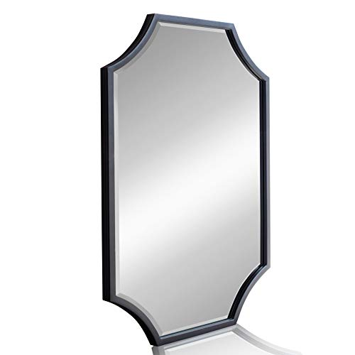 Large Decorative Mirror for Wall - Metal Framed Wall Mirror with Bevel, -