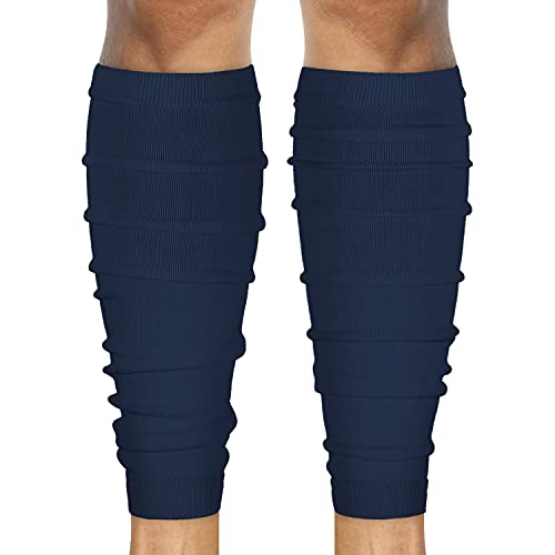 SLEEFS Calf Compression Leg Sleeves - Football Leg Sleeves for Adult Athletes - Shin Splint Support (Navy)