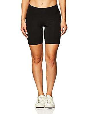 Hanes Women's Stretch Jersey Bike Short, Black, Large
