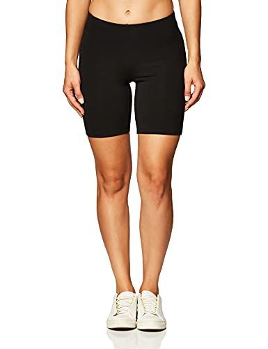 Hanes Women's Stretch Jersey Bike Short, Black, Small