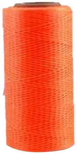 HMOCNV 260m, 1mm Leder Armband Schmuck Beading Cord Basteln Nähen Craft Wax Nylon Schnur Gewinde, Fluoreszierendes Orange, Free Size