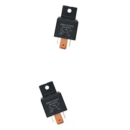 2x Interruptor Conmutación SPDT Relés 5 Pin de Coche, JD2912-1Z-24VDC 80A 28VDC