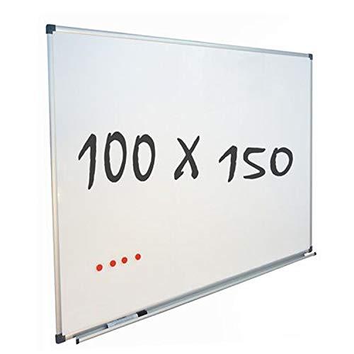 Vivol Eco Magnetic Whiteboard 100x150 | Aluminium Rahmen | Magnettafel Whiteboardwand Magnetwand | Stiftablage | 14 Größen | Magnetisch und Beschreibbar